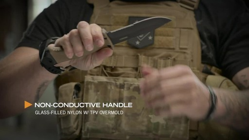 Gerber LMF II Infantry Fixed Blade Combat Knife Brown - image 5 from the video