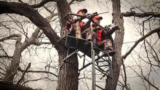 Guide Gear 20' Double Rail Ladder Tree Stand With Hunting Blind - image 1 from the video
