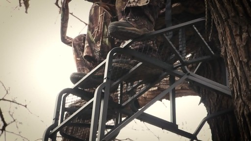Guide Gear 20' Double Rail Ladder Tree Stand With Hunting Blind - image 5 from the video