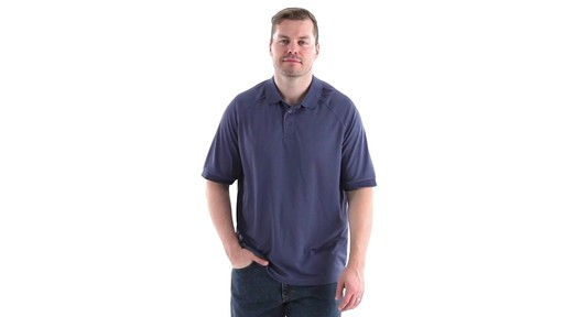 Guide Gear Men's Performance Short Sleeve Polo Shirt 360 View - image 10 from the video