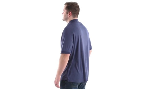 Guide Gear Men's Performance Short Sleeve Polo Shirt 360 View - image 7 from the video