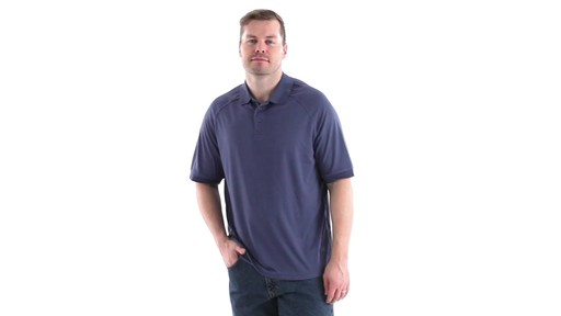 Guide Gear Men's Performance Short Sleeve Polo Shirt 360 View - image 9 from the video