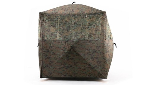 Guide Gear Silent Adrenaline Camo Ground Hunting Blind 360 View - image 3 from the video