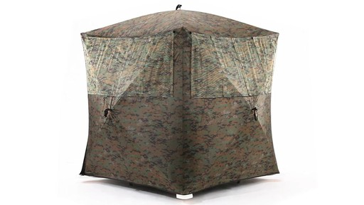 Guide Gear Silent Adrenaline Camo Ground Hunting Blind 360 View - image 4 from the video