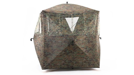 Guide Gear Silent Adrenaline Camo Ground Hunting Blind 360 View - image 5 from the video