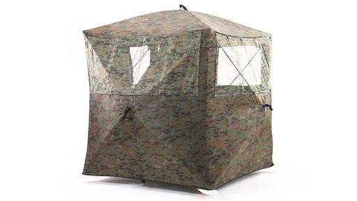Guide Gear Silent Adrenaline Camo Ground Hunting Blind 360 View - image 6 from the video