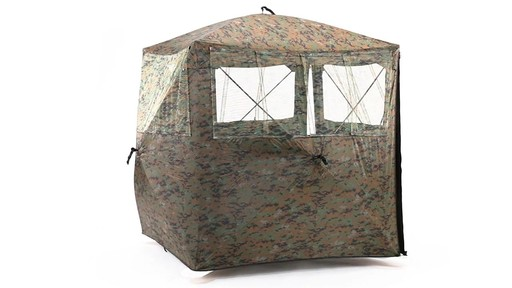 Guide Gear Silent Adrenaline Camo Ground Hunting Blind 360 View - image 7 from the video