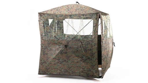 Guide Gear Silent Adrenaline Camo Ground Hunting Blind 360 View - image 8 from the video