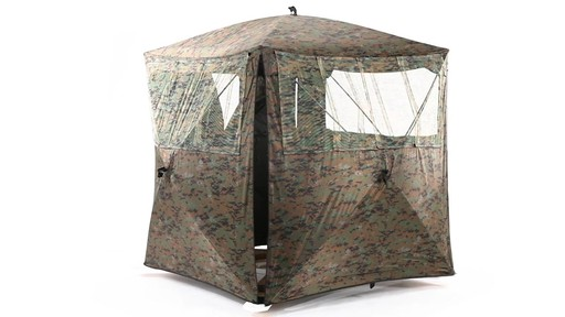 Guide Gear Silent Adrenaline Camo Ground Hunting Blind 360 View - image 9 from the video