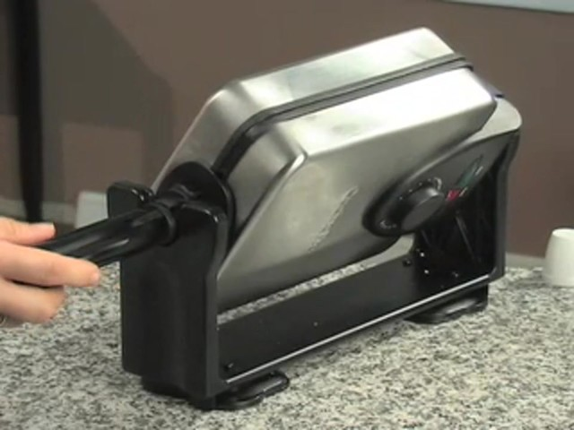 CucinaPro™ Professional Belgian Flip Waffle Maker - image 5 from the video