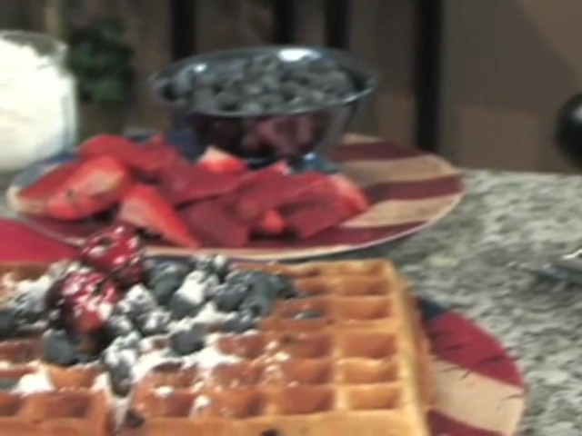 CucinaPro™ Professional Belgian Flip Waffle Maker - image 7 from the video