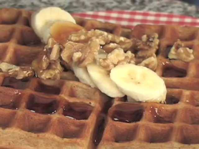 CucinaPro™ Professional Belgian Flip Waffle Maker - image 8 from the video