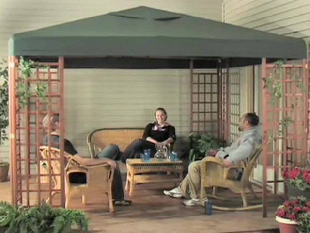 10x10' Wood Gazebo - image 10 from the video