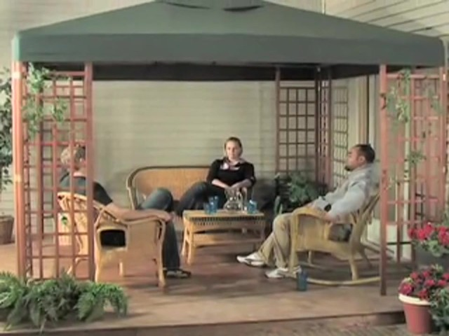 10x10' Wood Gazebo - image 9 from the video