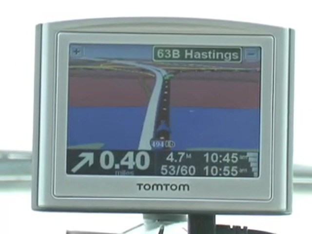 TomTom® III Navigator GPS with Leather Case (Refurbished) - image 6 from the video