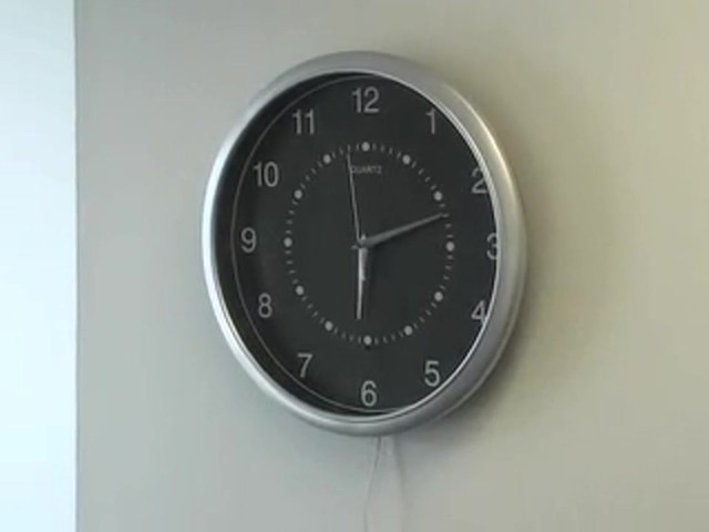SecurityMan® Clock Cam Wireless Security Camera - image 1 from the video