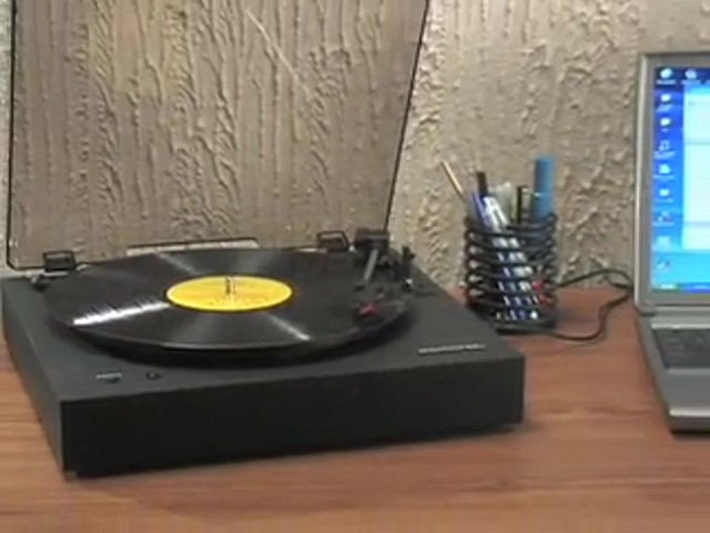 Memorex® Digital USB Turntable  - image 3 from the video