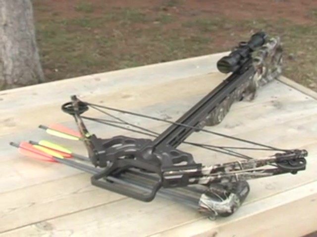Arrow Precision® 375 F.P.S. Inferno Firestorm® Compound Crossbow Package - image 10 from the video