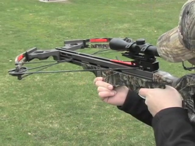 Arrow Precision® 375 F.P.S. Inferno Firestorm® Compound Crossbow Package - image 5 from the video