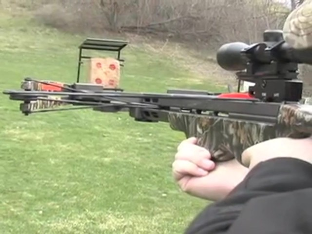 Arrow Precision® 375 F.P.S. Inferno Firestorm® Compound Crossbow Package - image 9 from the video