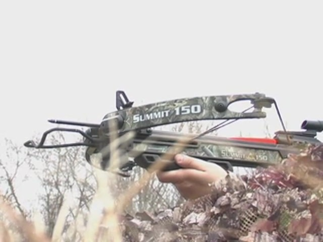 Horton® 150 - lb. Summit Crossbow Realtree® Hardwoods HD® - image 8 from the video
