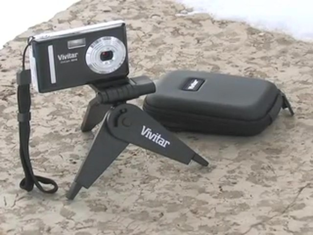 Vivitar® 10 - megapixel Digital Camera with BONUS 2GB Card / Case / Tripod - image 10 from the video