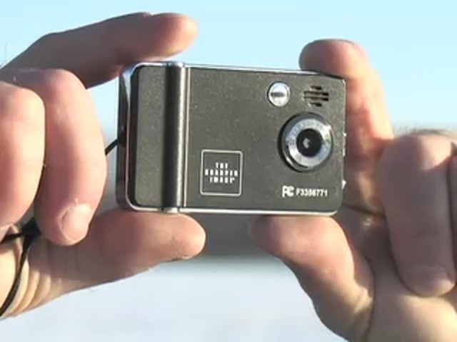 The Sharper Image® Digital Camera / Camcorder - image 3 from the video