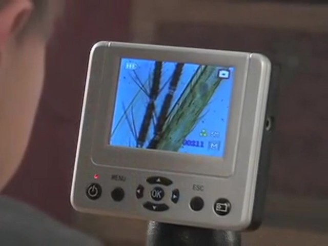 """Barska® 1600X Digital Microscope with 3.5"""" Color Screen - image 4 from the video"""