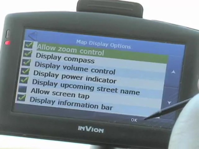 "InVion® 4 3/10"" Touch Screen GPS Navigation Unit - image 4 from the video"