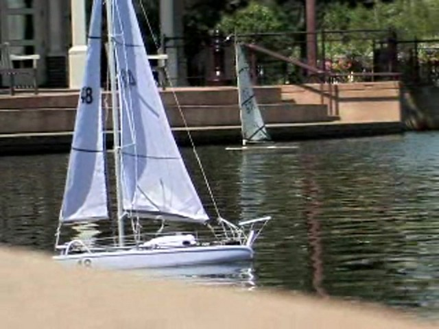 Radio - controlled Sailboat Replica - image 10 from the video