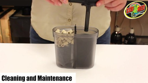 Zoo Med Turtle Clean 501 Turtle Tank External Canister Filter  - image 10 from the video