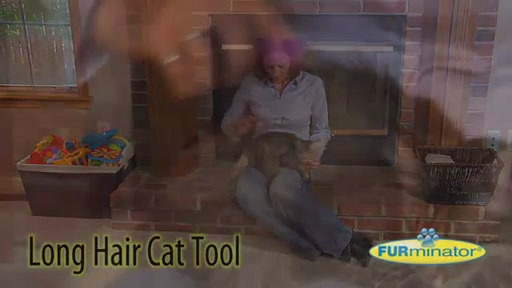 FURminator Long Hair Cat Grooming Tool - image 2 from the video