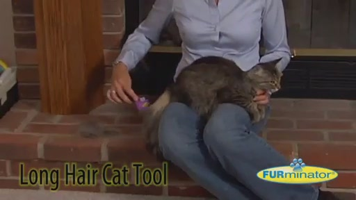 FURminator Long Hair Cat Grooming Tool - image 4 from the video