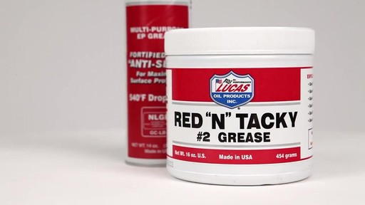 Lucas Oil Red 'N' Tacky Gear Grease » Car Care - Product Turntable